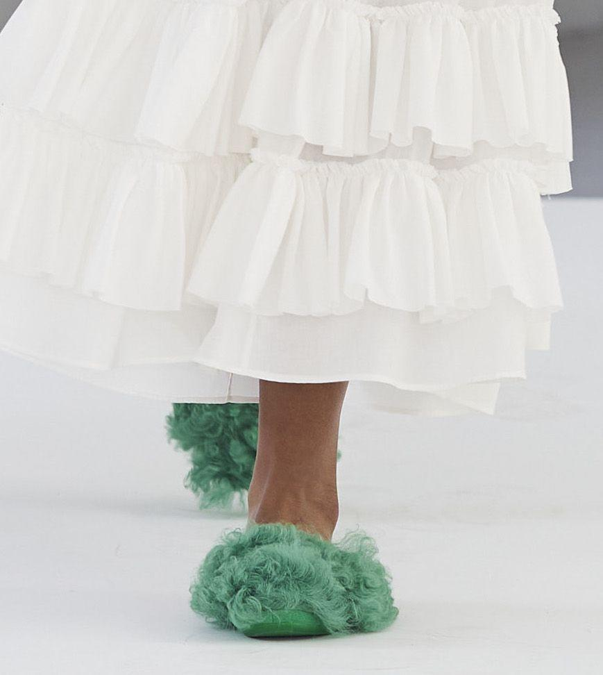 <p>After wearing slippers in your house for a while now, you'll finally get to wear them out, too.</p><p><em>Molly Goddard</em></p>