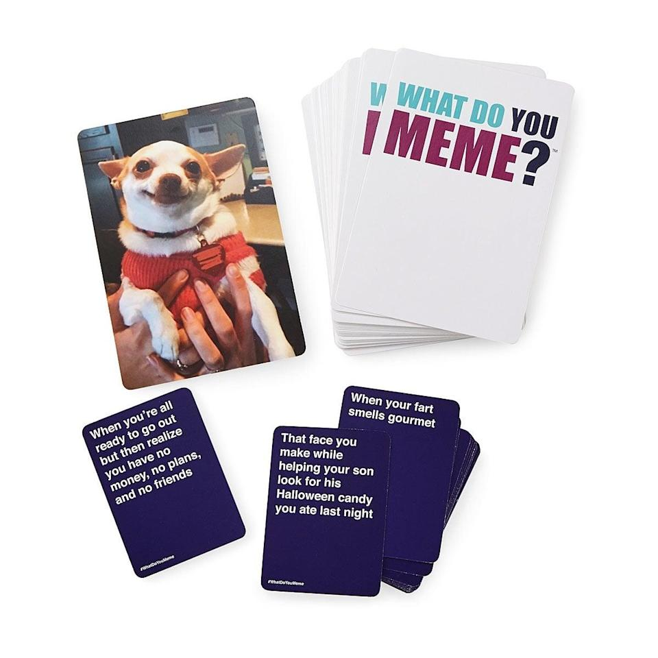 <p>For the class clown who never grew up, the <span>What Do You Meme Game</span> ($30) is a classic.</p>