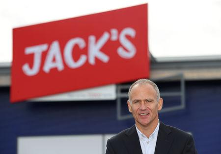 Dave Lewis, Chief Executive Officer of Tesco stands outside on of Tesco's new discount supermarkets called Jack's, in Chatteris, Britain, September 19, 2018. REUTERS/Chris Radburn