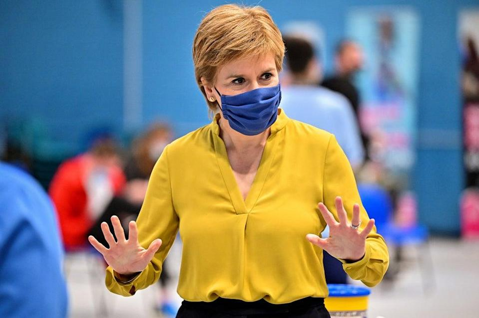 The First Minister had her second dose of a coronavirus vaccine in June