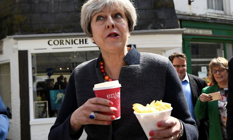 Theresa May in Mevagissey