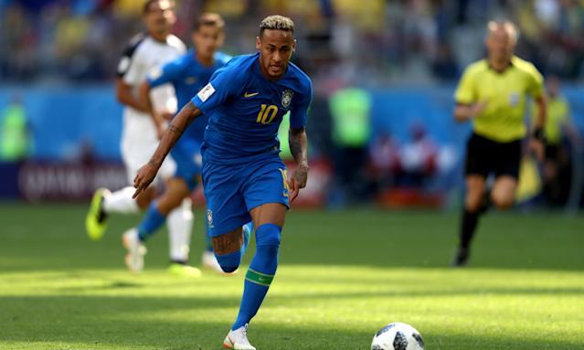 Neymar scored his first goal in this World Cup with Brazil's second against Costa Rica.