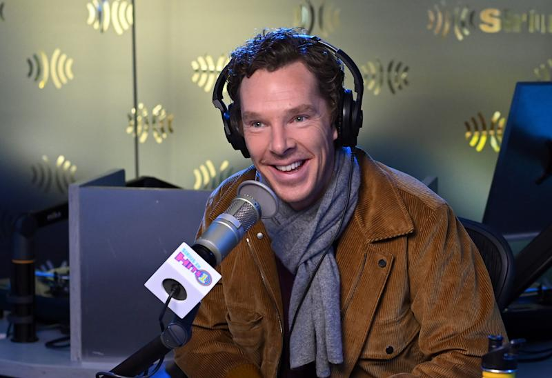 NEW YORK, NEW YORK - OCTOBER 22: (EXCLUSIVE COVERAGE) Actor Benedict Cumberbatch visits Morning Mash Up at SiriusXM Studios on October 22, 2019 in New York City. (Photo by Slaven Vlasic/Getty Images)