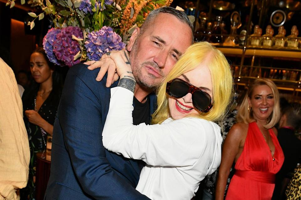 Party on: DJ Fat Tony with Pam Hogg (Dave Benett/Getty Images for MCH)