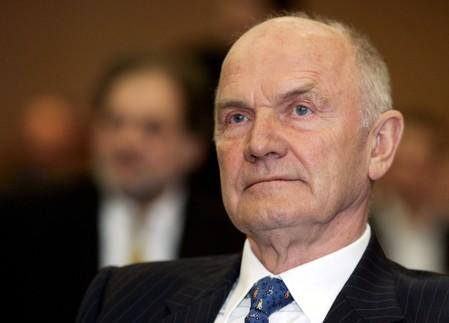 FILE PHOTO: Chairman of the Board of German carmaker Volkswagen AG Piech waits for trial at the district court in Braunschweig