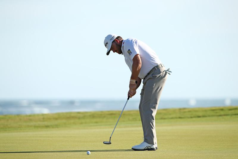 PUNTA CANA, DOMINICAN REPUBLIC - MARCH 31: Graeme McDowell of Northern Ireland putts on the 18th green to win the tournament during the final round of the Corales Puntacana Resort & Club Championship on March 31, 2019 in Punta Cana, Dominican Republic. (Photo by Marianna Massey/Getty Images)