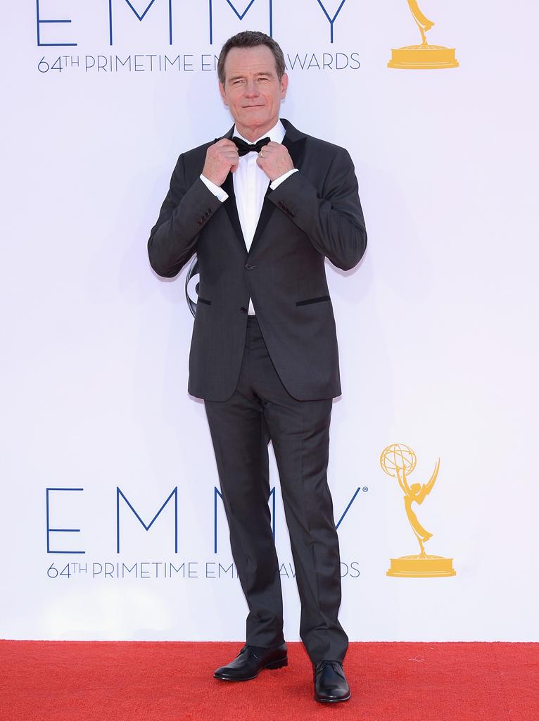 Bryan Cranston arrives at the 64th Primetime Emmy Awards at the Nokia Theatre in Los Angeles on September 23, 2012.