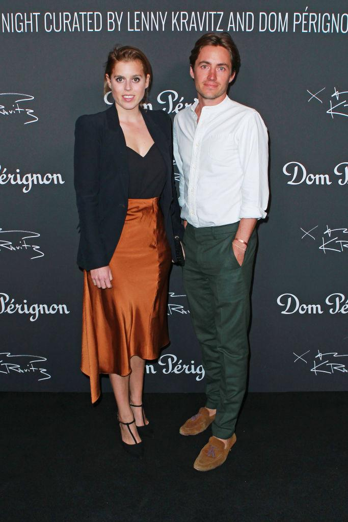 LONDON, ENGLAND -  JULY 10:   Princess Beatrice of York and Edoardo Mapelli Mozzi attend attends the Lenny Kravitz & Dom Perignon 'Assemblage' exhibition, the launch Of Lenny Kravitz' UK Photography Exhibition, on July 10, 2019 in London, England. (Photo by David M. Benett/Dave Benett/Getty Images for Dom Perignon)