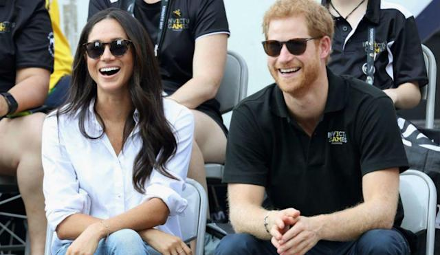 Markle wore a shirt from her friend's label at the Invictus Games. (Photo: Getty Images)