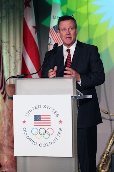 United States Olympic Committee (USOC) chief Scott Blackmun is considering entering Los Angeles as a candidate for the 2024 Olympics (AFP Photo/Ned Dishman)