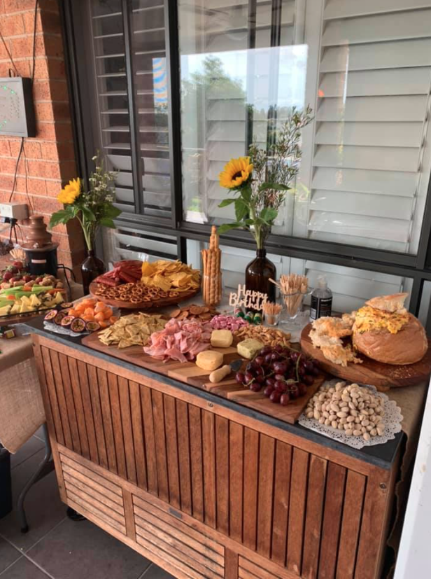 grazing table for a birthday party