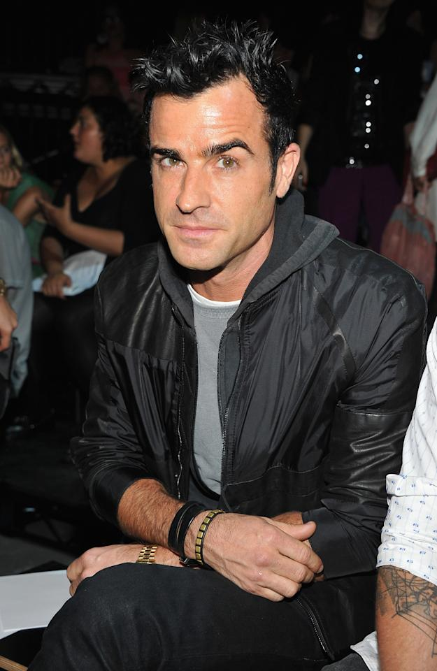 NEW YORK, NY - SEPTEMBER 08:  Justin Theroux attends the Alexander Wang show during Spring 2013 Mercedes-Benz Fashion Week at Pier 94 on September 8, 2012 in New York City.  (Photo by Theo Wargo/Getty Images)