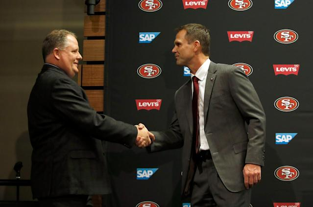 Trent Baalke welcomed Chip Kelly in January, the 49ers third coach in three years (Getty Images)