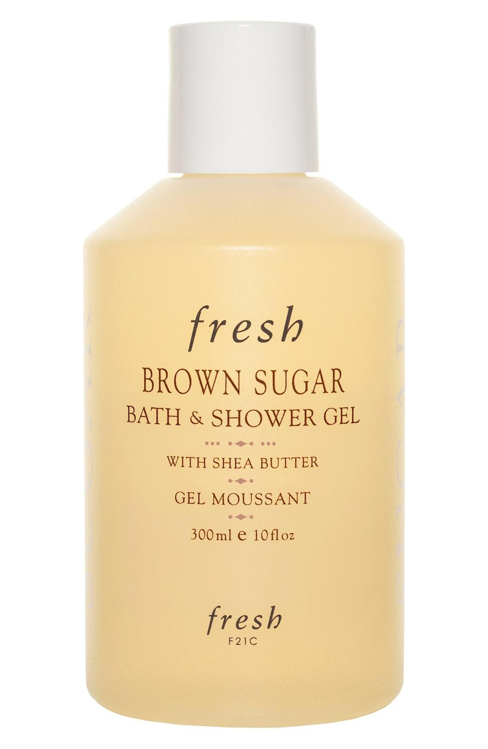 <p>The <span>Fresh Brown Sugar Bath &amp; Shower Gel</span> ($23) features a simple blend of lemon and caramel fragrance that smells so good, it'll leave your bathroom smelling like a baked dessert.</p>