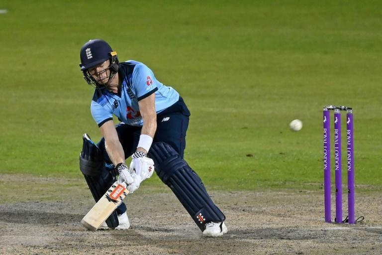 Sam Billings plays a ramp shot on his way to 118 but it was not enough to prevent England slipping to a 19-run defeat in the first ODI against Australia