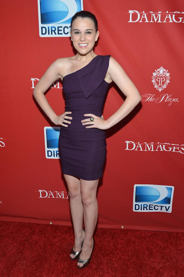 """Alexandra Socha attends The DirecTV premiere for the fifth and final season of """"Damages"""" at Paris Theater on June 28, 2012 in New York City."""