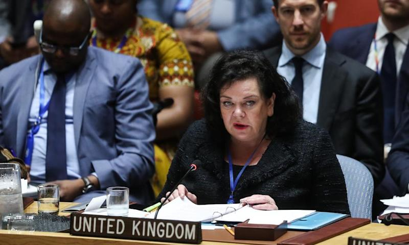 The UK ambassador to the UN, Karen Pierce