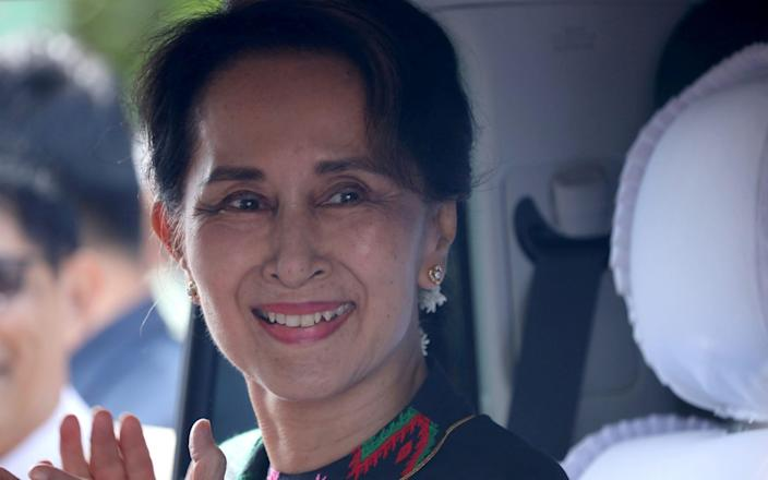 Aung San Suu Kyi is expected to win a second term as civilian leader  - Ann Wang/Reuters