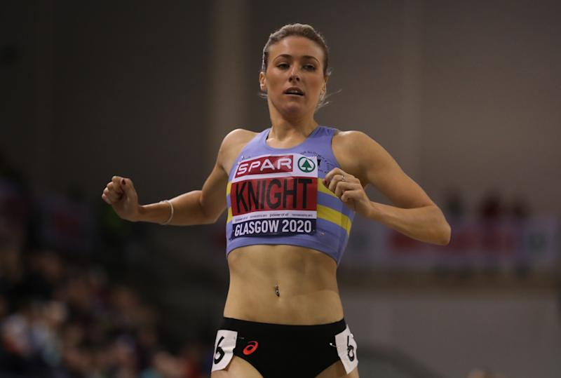 Jessie Knight soared to glory at the British Athletics Indoor Championships in Glasgow in February