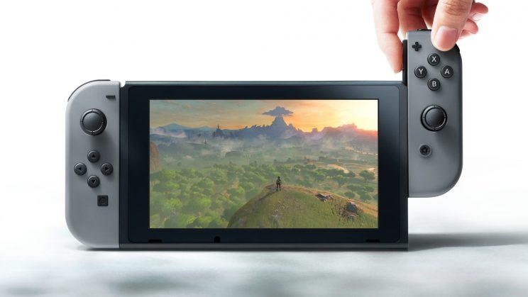 Joy-Con controllers detach from the 6.2-inch tablet portion of the console