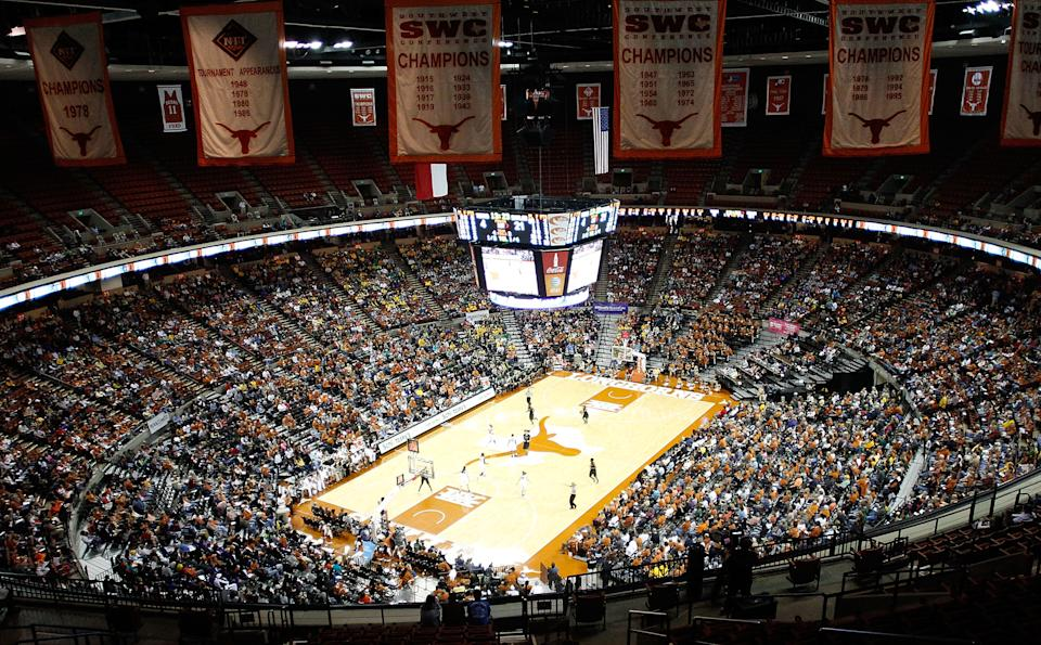 AUSTIN, TX - JANUARY 15:   A general view during a game between the Texas Longhorns and the Baylor Bears at the Frank Erwin Center on January 15, 2012 in Austin, Texas.  (Photo by Sarah Glenn/Getty Images)
