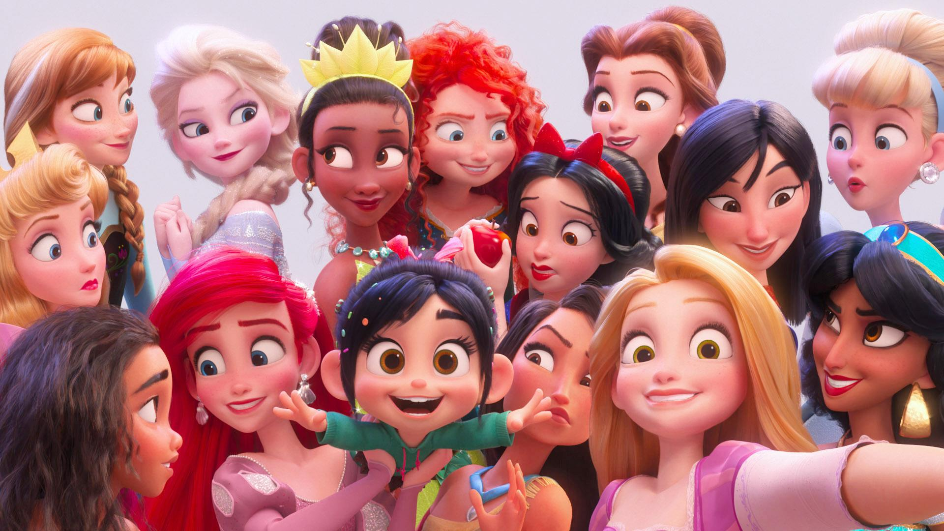 Pocahontas and the other Disney princesses reunite in Ralph Breaks the Internet. (Photo: Walt Disney Studios Motion Pictures / courtesy Everett Collection)