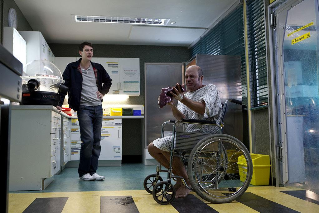 """Blake Harrison as Dave and David Cross as Todd Margaret in """"The Increasingly Poor Decisions of Todd Margaret."""""""