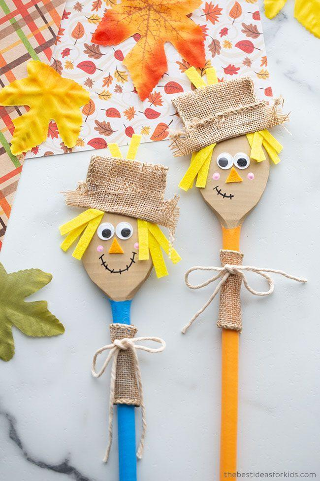 """<p>Dress these scarecrows up any way you like. When you're done, you can either use them in a puppet show, or stick them in a flower pot or pencil cup to use as decor.</p><p><a href=""""https://www.thebestideasforkids.com/wooden-spoon-scarecrow/"""" rel=""""nofollow noopener"""" target=""""_blank"""" data-ylk=""""slk:Get the tutorial at The Best Ideas for Kids »"""" class=""""link rapid-noclick-resp""""><em>Get the tutorial at The Best Ideas for Kids »</em></a></p>"""