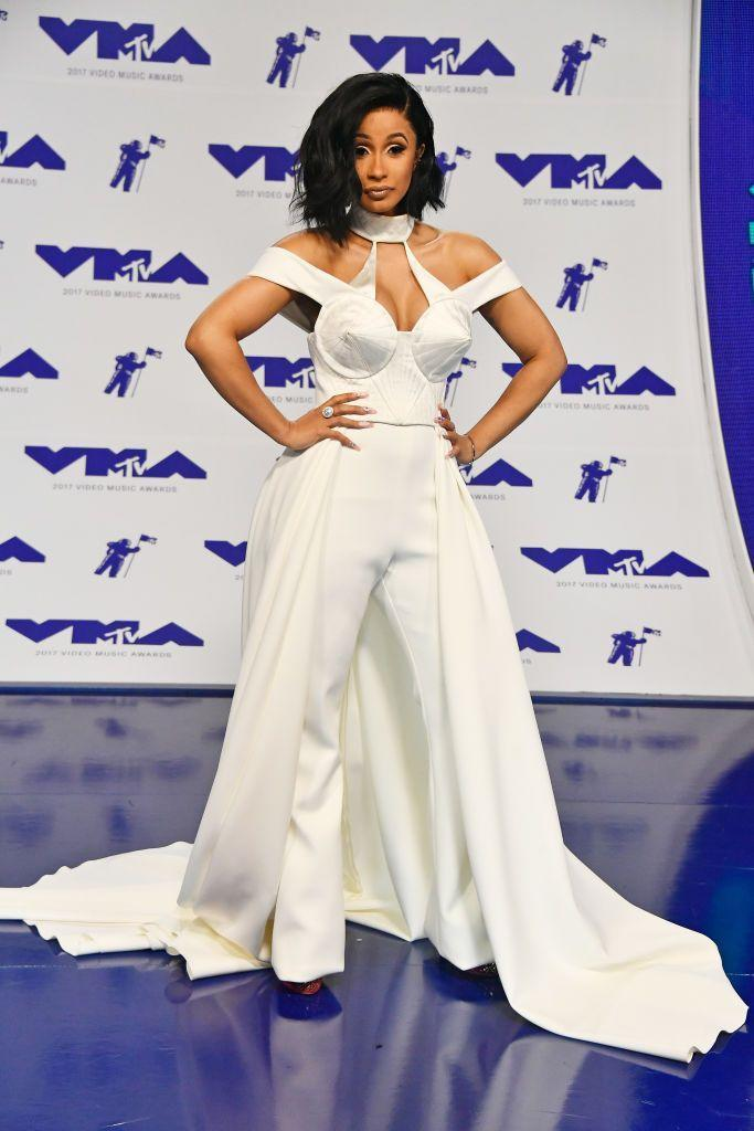 <p>The newcomer wore a custom-made Christian Siriano jumpsuit for the evening. </p>