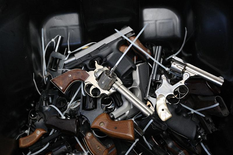Gun Control Australia says the estimated total number of firearms in the hands of civilians was now 3.2 million -- the same number as in 1996 (AFP Photo/David McNew)