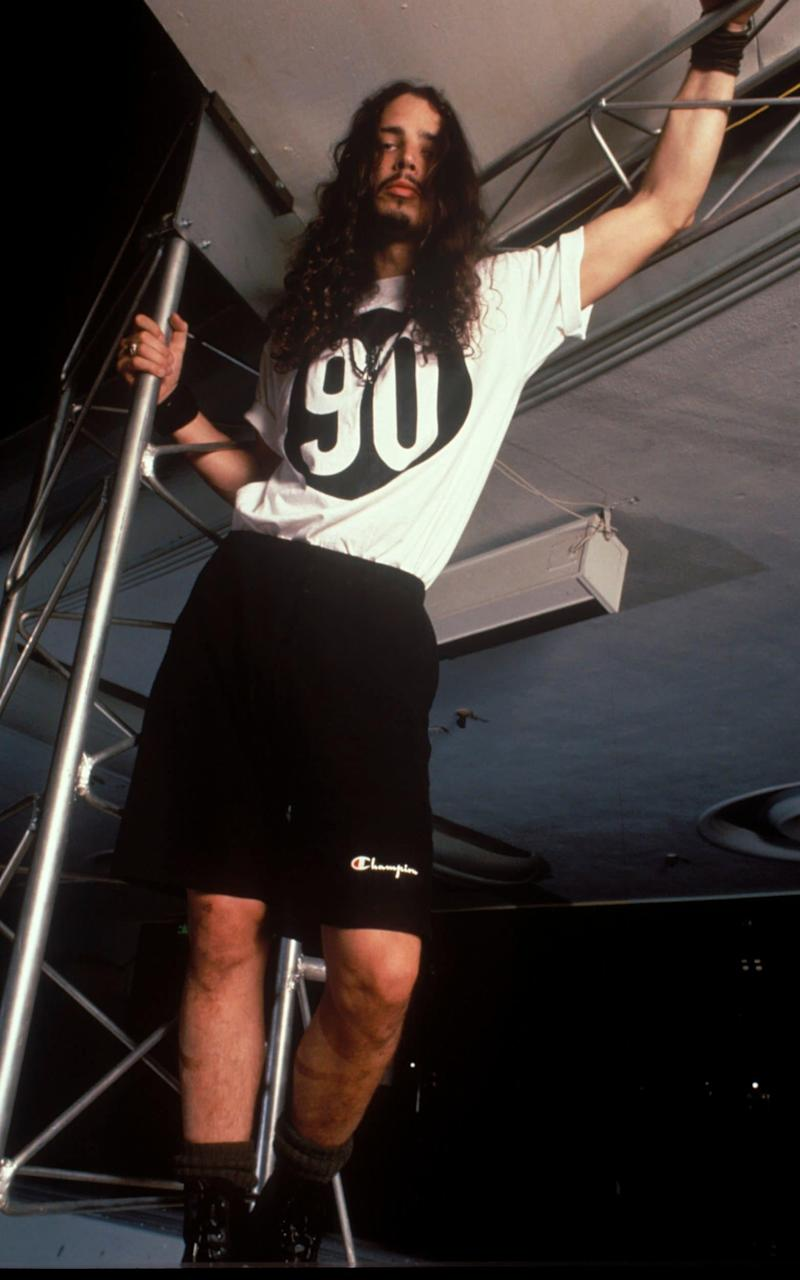Chris Cornell in Soundgarden in 1990