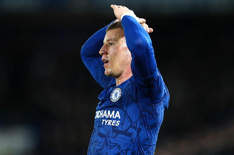 LONDON, ENGLAND - FEBRUARY 25: Ross Barkley of Chelsea during the UEFA Champions League round of 16 first leg match between Chelsea FC and FC Bayern Muenchen at Stamford Bridge on February 25, 2020 in London, United Kingdom. (Photo by Charlotte Wilson/Offside/Offside via Getty Images)