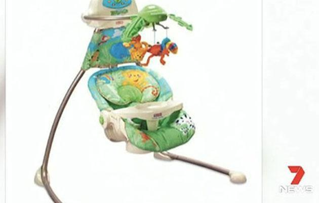 A baby swing. Source: Seven News