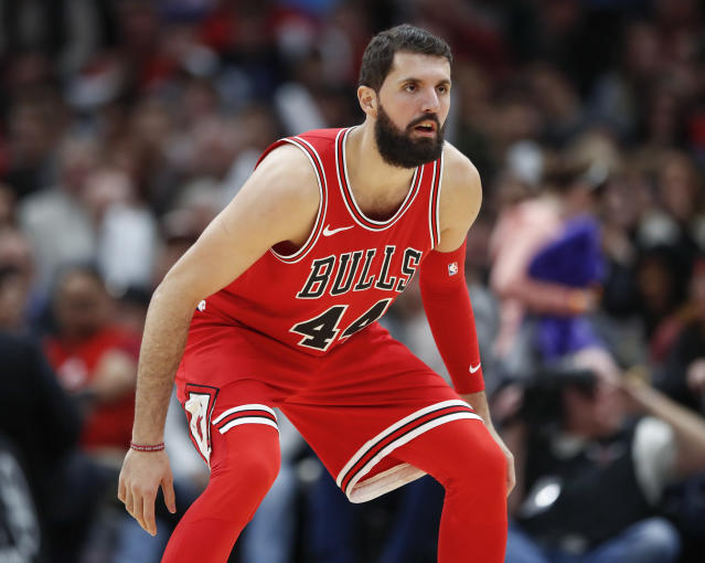 Nikola Mirotic is in his fourth NBA season. (AP)