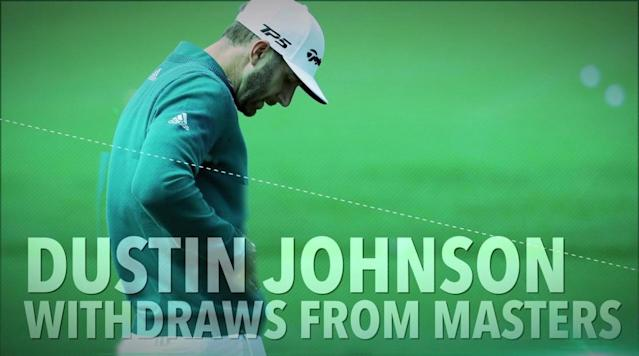 Dustin Johnson withdraws from Masters with back injury