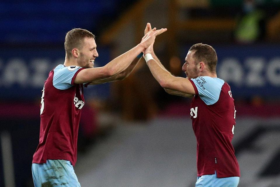 <p>Soucek and Coufal have starred for the Hammers</p> (Getty Images)