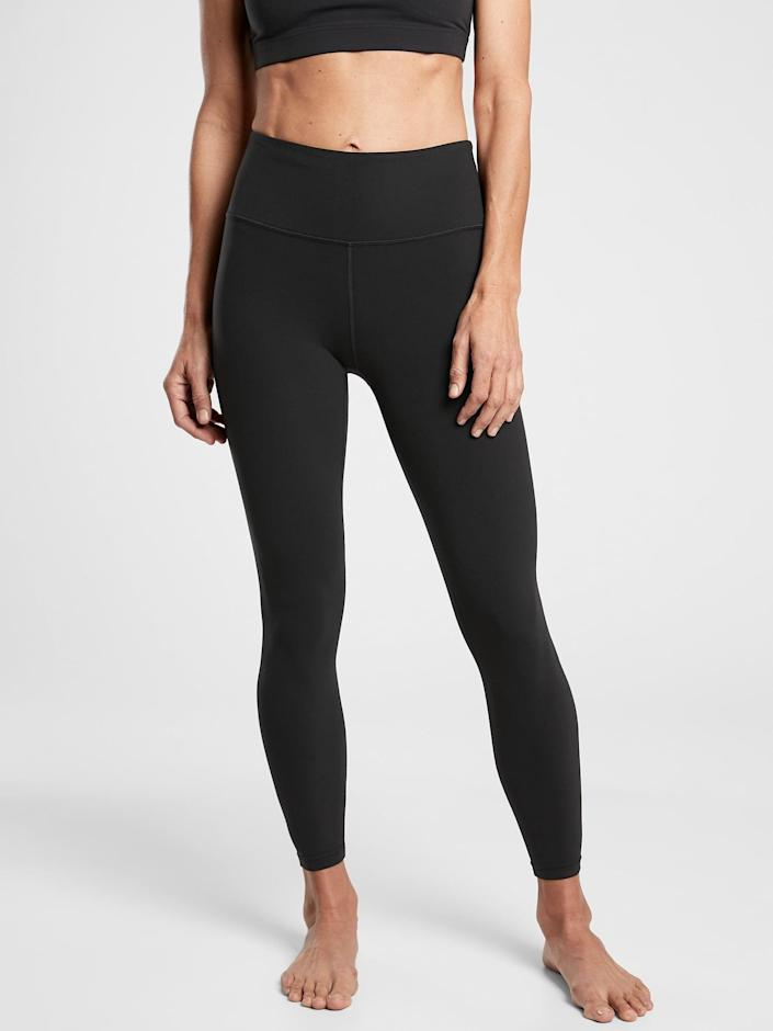 <p>These soft, supple <span>Athleta Elation 7/8 Tights</span> ($89) are a brand favorite, and perfect for yoga practice or snacking on the couch.</p>