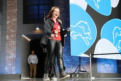 St. Jude Hero and radio personality Amy Paige announced seventh round pick for Detroit Lions, Credit Steve Luciano