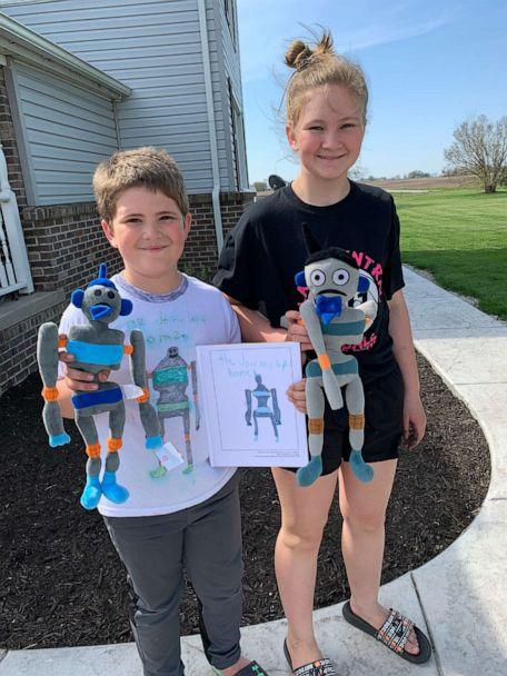 PHOTO: For his project, Joshua Johns, 9, decided to to write a sequel to his 11-year-old sister Crysta's book, which was about a robot. (Budsies)