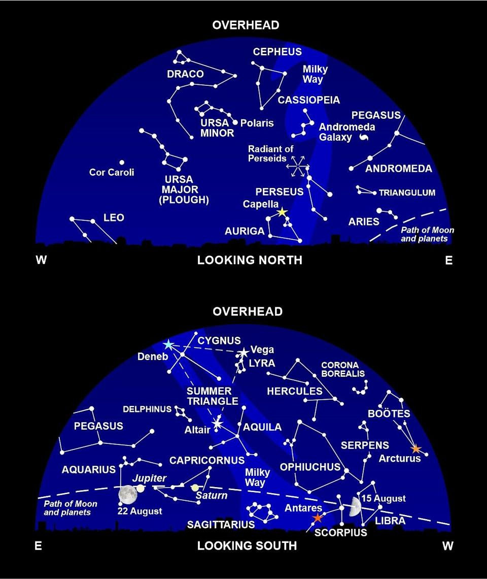 The night sky at around 11pm all this month (Nigel Henbest)