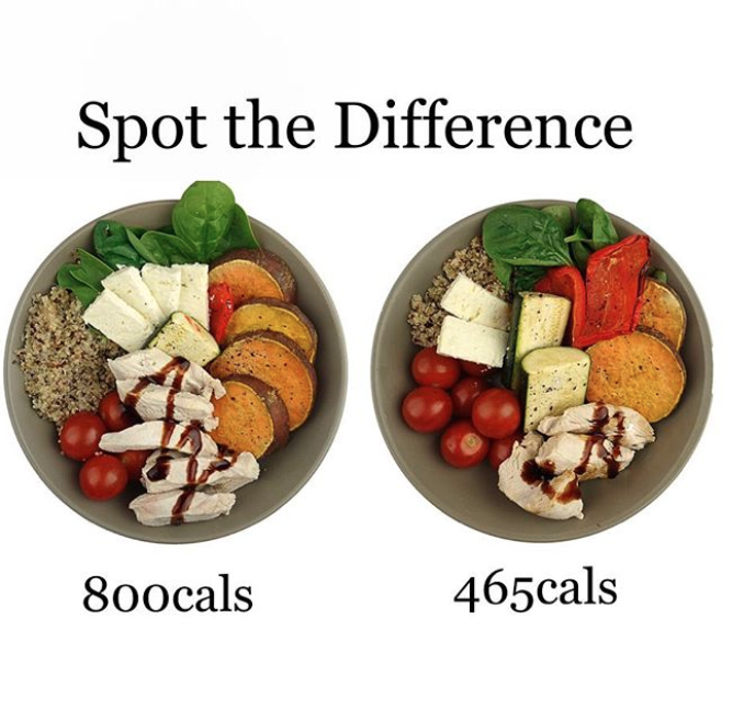 One of these dishes has nearly double the number of calories than the other. Photo: Instagram/Paula Norris
