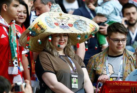 Soccer Football - Portugal v Mexico - FIFA Confederations Cup Russia 2017 - Third Placed Play Off - Spartak Stadium, Moscow, Russia - July 2, 2017 Mexico fans REUTERS/Sergei Karpukhin