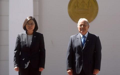 Presidents Tsai Ing-wen and Salvador Sanchez Ceren are no longer diplomatic allies - Credit: Marvin Recinos/AFP