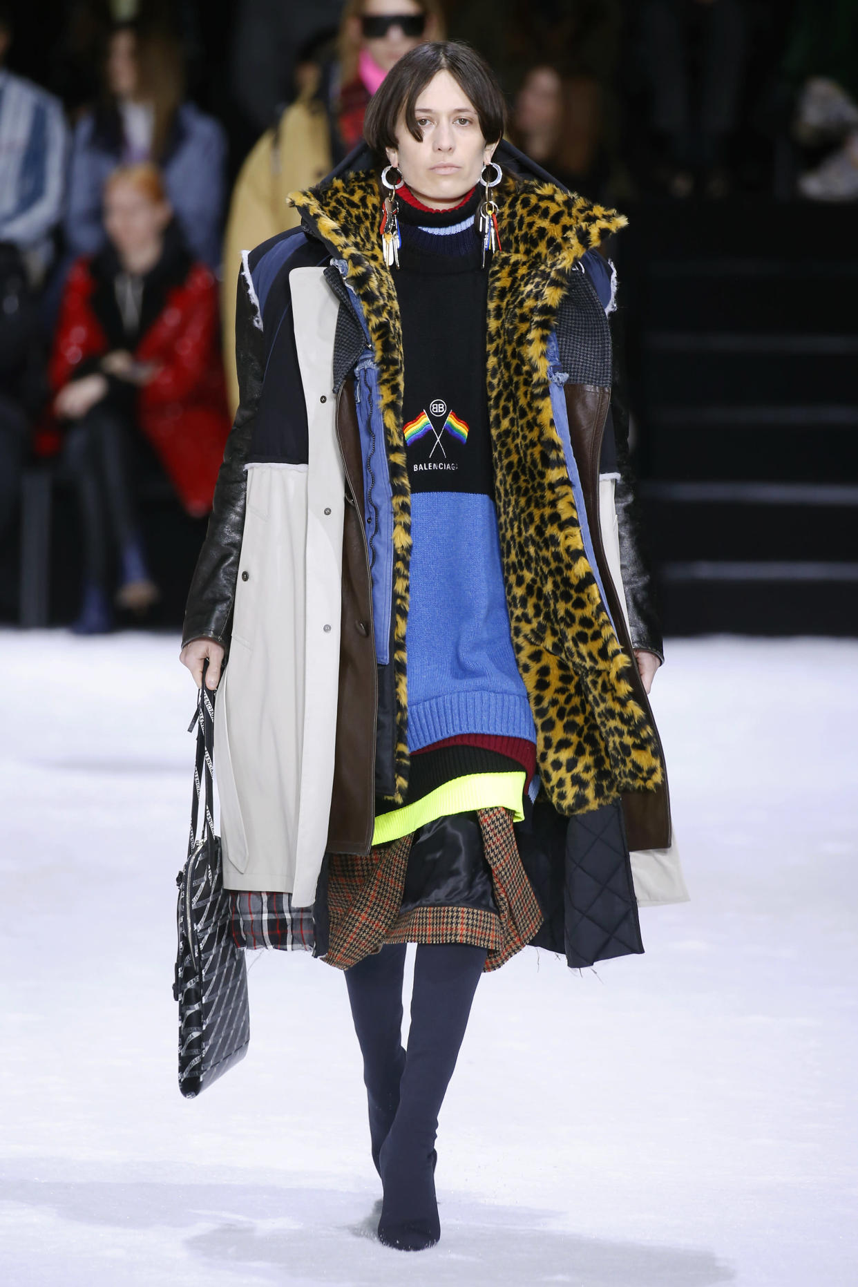 Balenciaga's AW18 collection saw models take to the runway swamped in layers of coats [Photo: Getty]