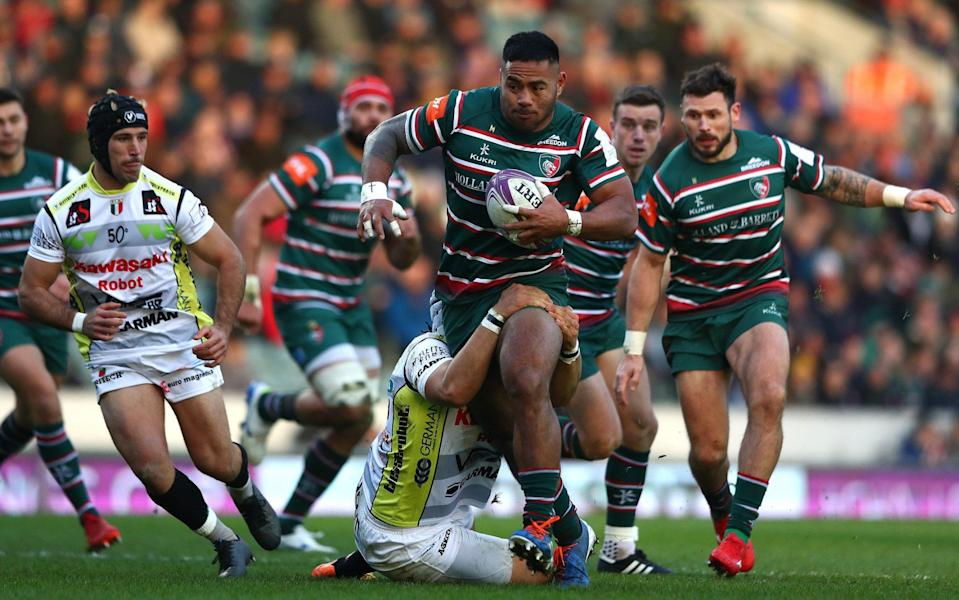 Manu Tuilagi breaks away for Leicester - GETTY IMAGES