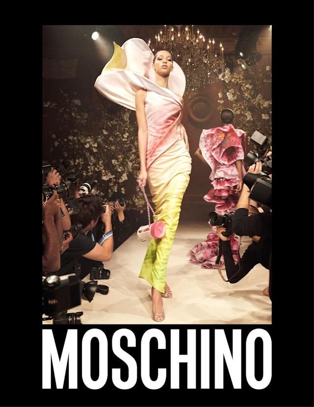 <p><strong>Model:</strong> Yasmin Wijnaldum<br><strong>Photographer:</strong> Steven Meisel<br>(Photo: Courtesy of Moschino) </p>