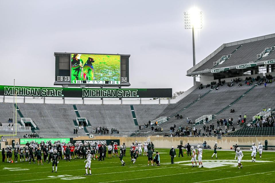 Michigan State holds the spring football game on Saturday, April 24, 2021, at Spartan Stadium in East Lansing.