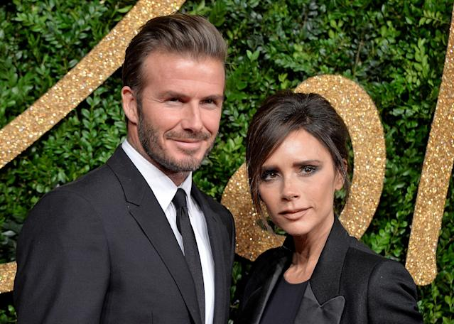 David and Victoria Beckham. (Photo by Anthony Harvey/Getty Images)