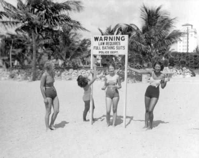 Good morals in Florida, 1934.