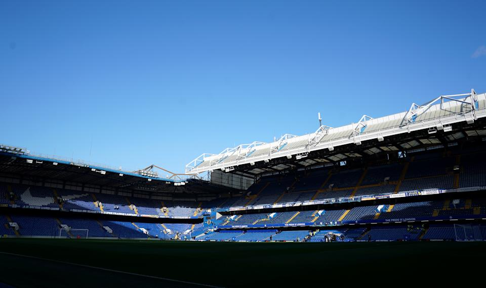 A general view of Stamford Bridge stadium before the game
